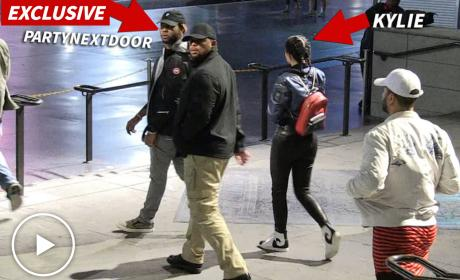 PartyNextDoor: Out and About with Kylie Jenner!