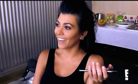 Kourtney Kardashian on E!