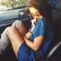 Selena Gomez in the Car