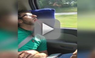 Friends Stuff Twizzlers Into Mouth of Sleeping Passenger