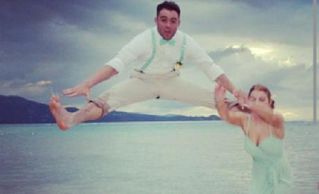 Groomsman Kicks Bridesmaid in Head