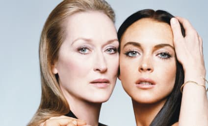 Lindsay Lohan Celebrates Throwback Thursday With Meryl Streep Photo, Reminds World She Used to Have a Career