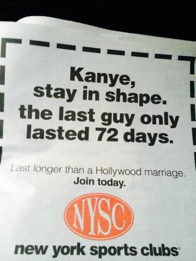 New York Sports Club Ad