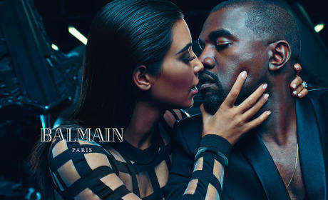 Kim Kardashian, Kanye West Pose For Balmain Campaign: See the Pics!