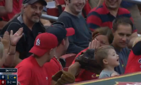 Young Cardinals Fan Throws Foul Ball Back on Field, Father Reacts in Horror