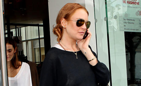 Lindsay Lohan on the Phone