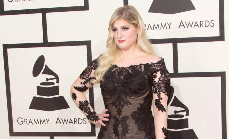 Meghan Trainor at the 2015 Grammys