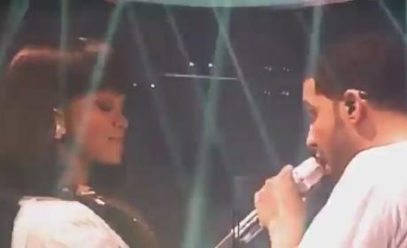Rihanna and Drake: Spotted in Paris! Grinding on Stage! Totes Hitting It!