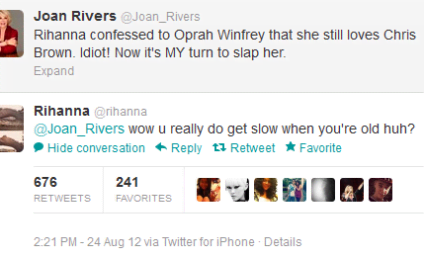 "Joan Rivers Wants to Slap ""Idiot"" Rihanna"