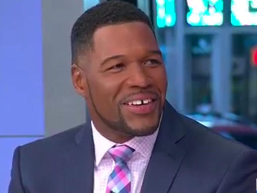 Michael Strahan on Good Morning America