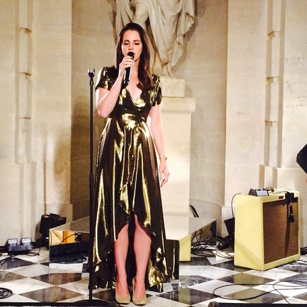 Lana Del Rey Performs for Kimye