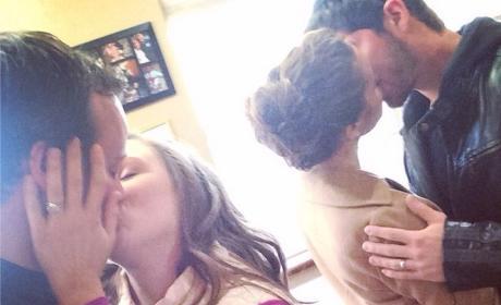 Jessa and Ben, Anna and Josh Duggar Kiss
