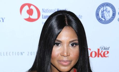 Toni Braxton in Red