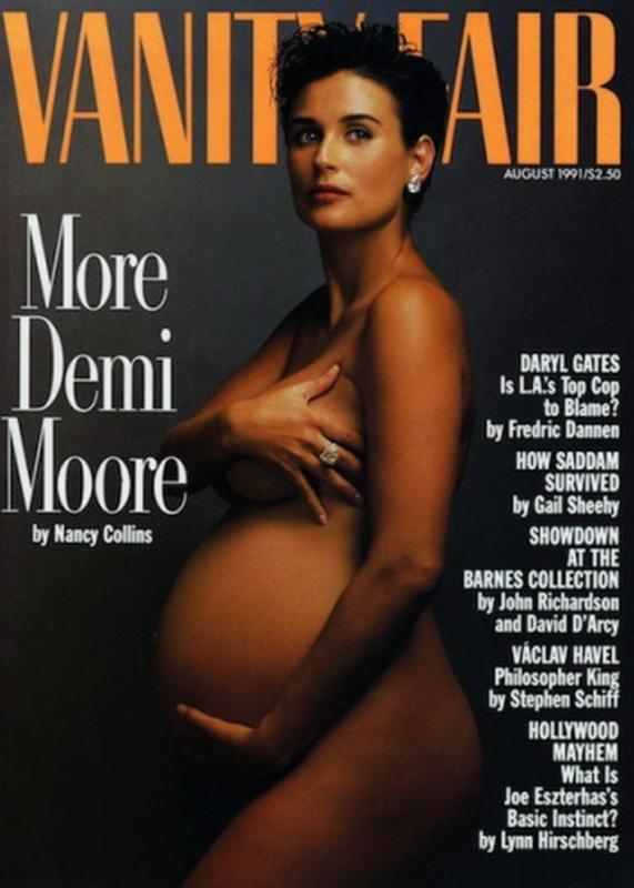 Demi moore goes nude
