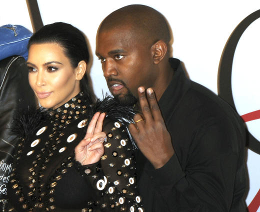 2 for Kim Kardashian and Kanye West