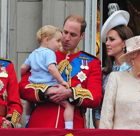 Prince William, Kate Middleton and Prince George at Trooping The Colour 2015