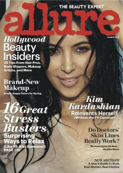 Kim Kardashian Allure Cover