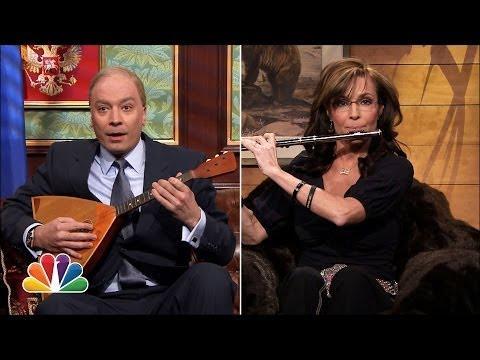 Jimmy Fallon Plays Vladimir Putin Talks to Real Sarah Palin Video