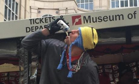 Rob Gronkowski Chugs Beer, Offers Cops Vodka at Patriots Victory Parade