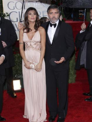 Elisabetta Canalis and George Clooney