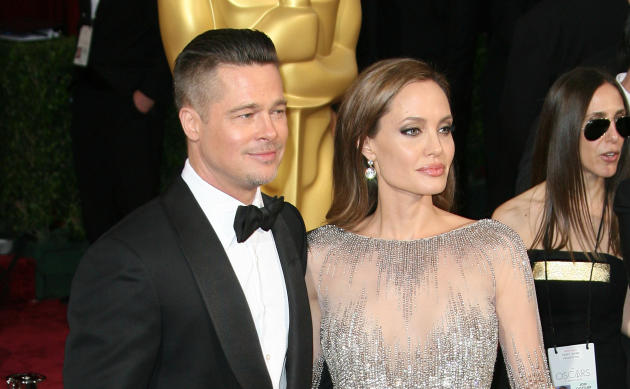 Brad and Angelina at the Oscars