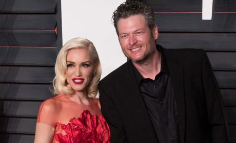 Gwen Stefani and Blake Shelton at Vanity Fair Oscar Party