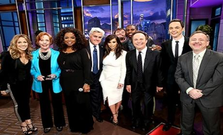 Kim Kardashian and Kompany Sing Goodbye to Jay Leno