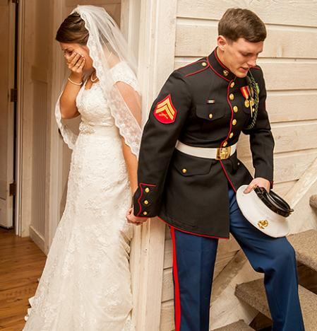 Marine's Wedding Prayer Pic