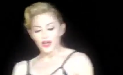 Madonna Flashes Panties, Moons Crowd in Rome