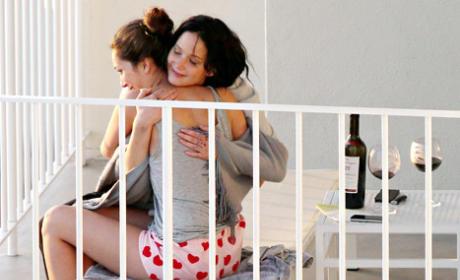 Jennifer Lawrence Hugs