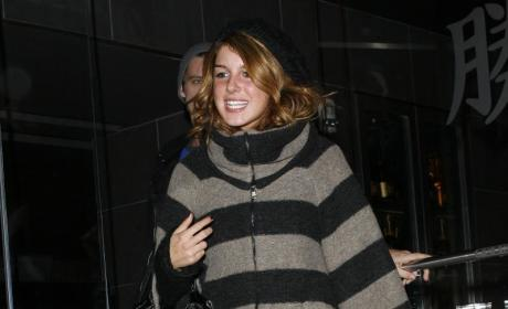 Shenae Grimes Wears a Really Baggy Sweater