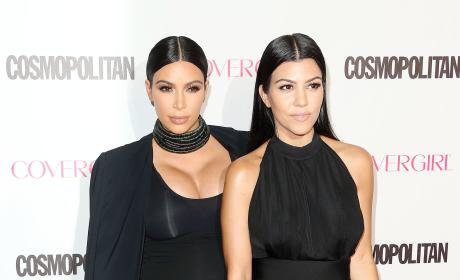 Kim Kardashian and Kourtney Kardashian: Cosmopolitan's 50th Birthday Celebration