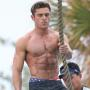 Zac Efron shirtless for Baywatch