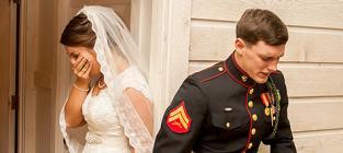 Marine's Wedding Prayer Pic