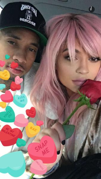 Kylie Jenner and Tyga on Valentine's Day