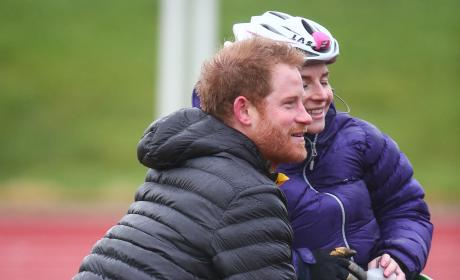 Prince Harry Speaks With RAF Medic Anna Pollock