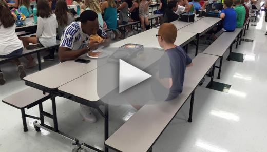 Travis rudolph college football star eats lunch with austistic m