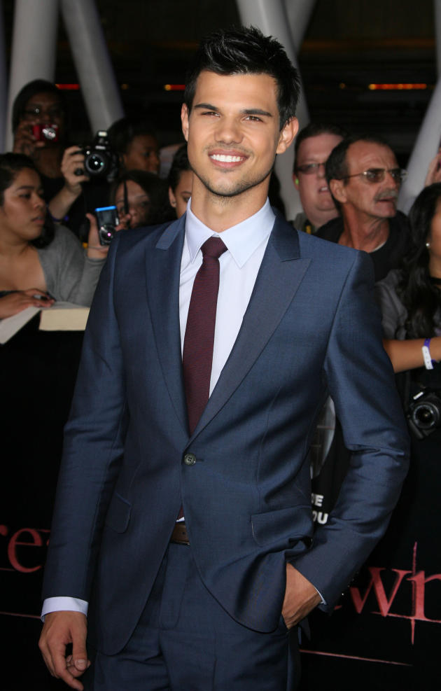 Taylor Lautner at Breaking Dawn Premiere