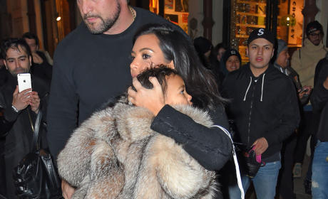 Kim Kardashian Dresses North West in Fur, Outrages Animal Rights Activists