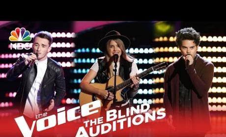 Noah Jackson, Tim Atlas and Hanna Ashbrook Auditions (The Voice)