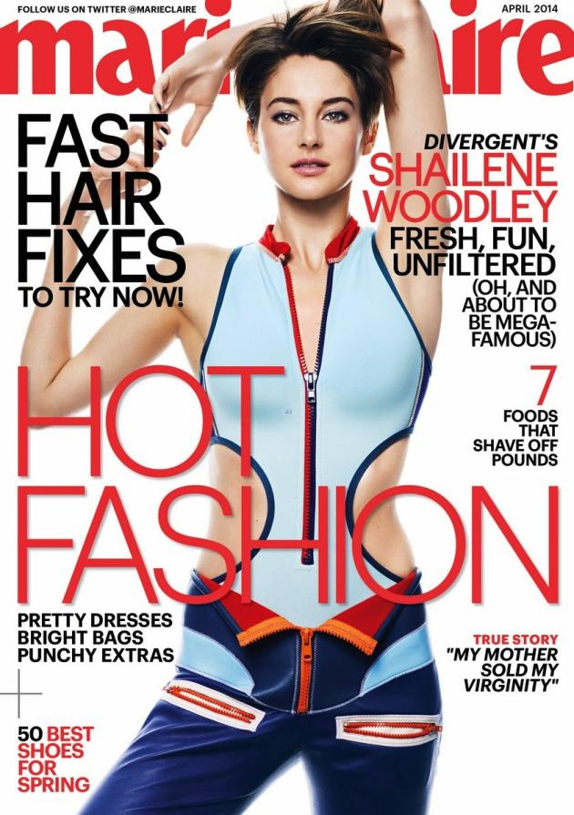 Shailene Woodley Marie Claire Cover