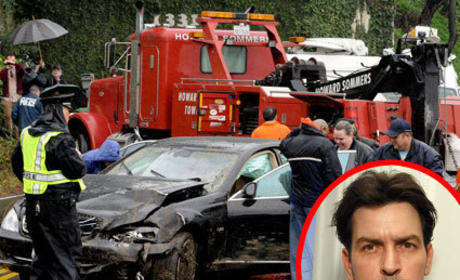 Charlie Sheen's SUV: Stolen, Crashed, Lying at Bottom of Cliff