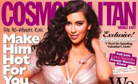 Kim Kardashian on Middle Eastern Cosmo