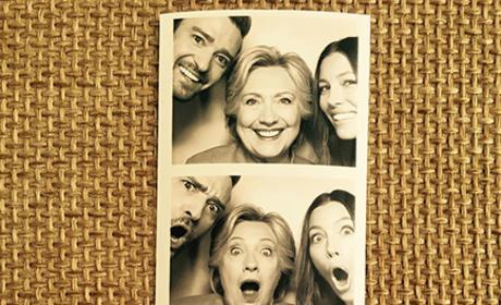 Hillary Clinton, Jessica Biel and Justin Timberlake