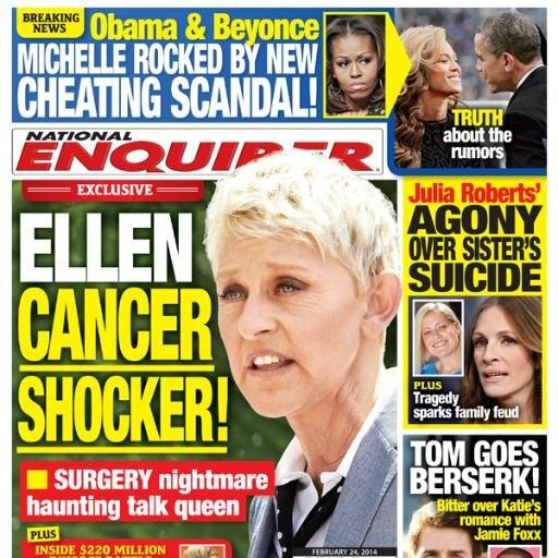 Ellen DeGeneres National Enquirer