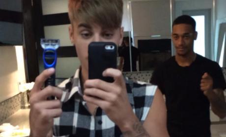 """Justin Bieber Shaves """"Mustache"""" in Thrilling Instagram Video"""