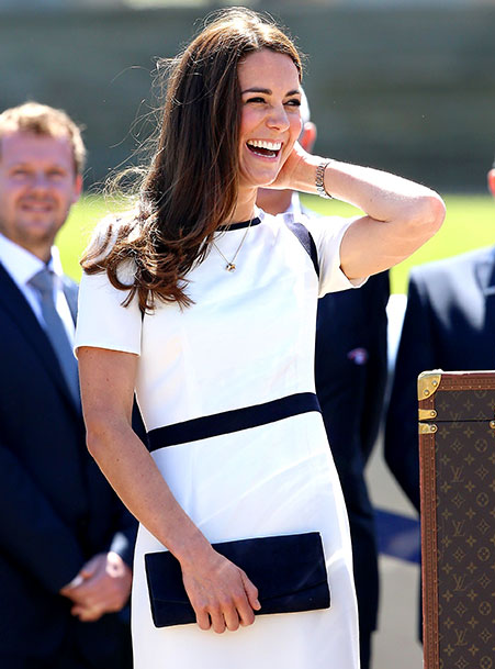 Kate Middleton in White and Black