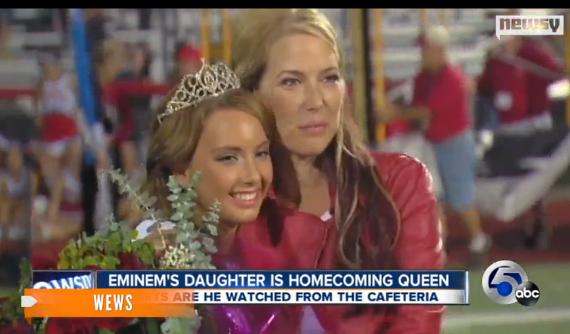 hailie scott  eminem u0026 39 s daughter  crowned homecoming queen