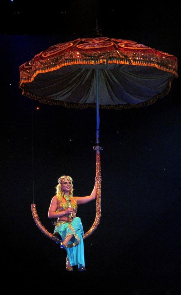 Britney on an Umbrella