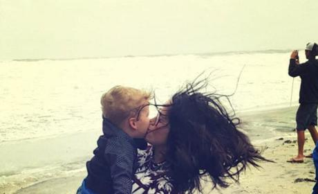 Jenelle Evans Kaiser beach photo